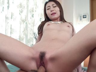 Maya Kato takes down panties for a tasty dick